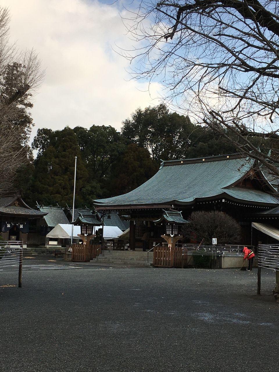 新春を待つ健軍神社・熊本市東区