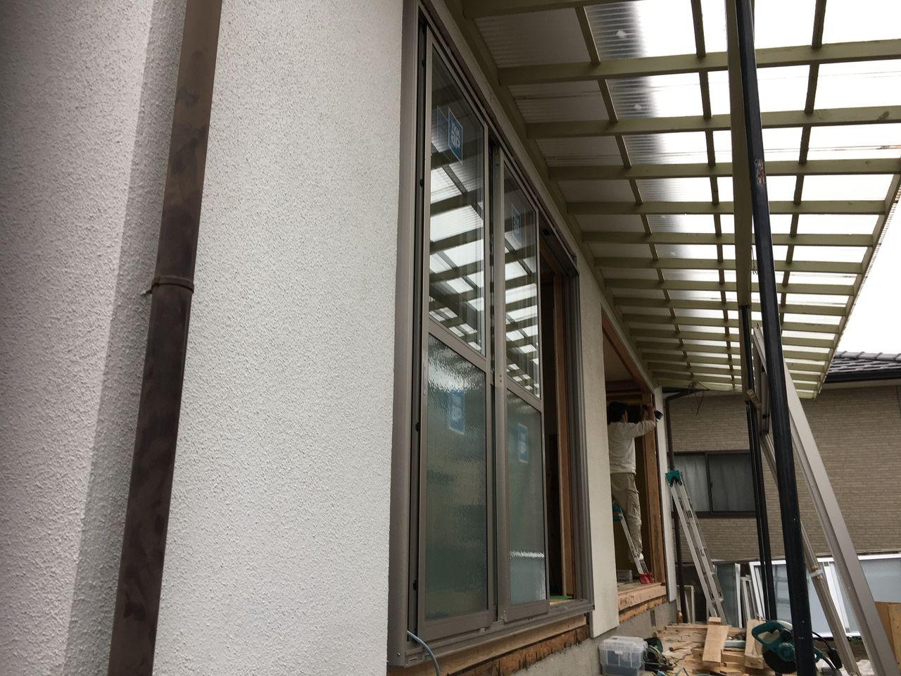 熊本市東区桜木・アルミサッシの入替終了