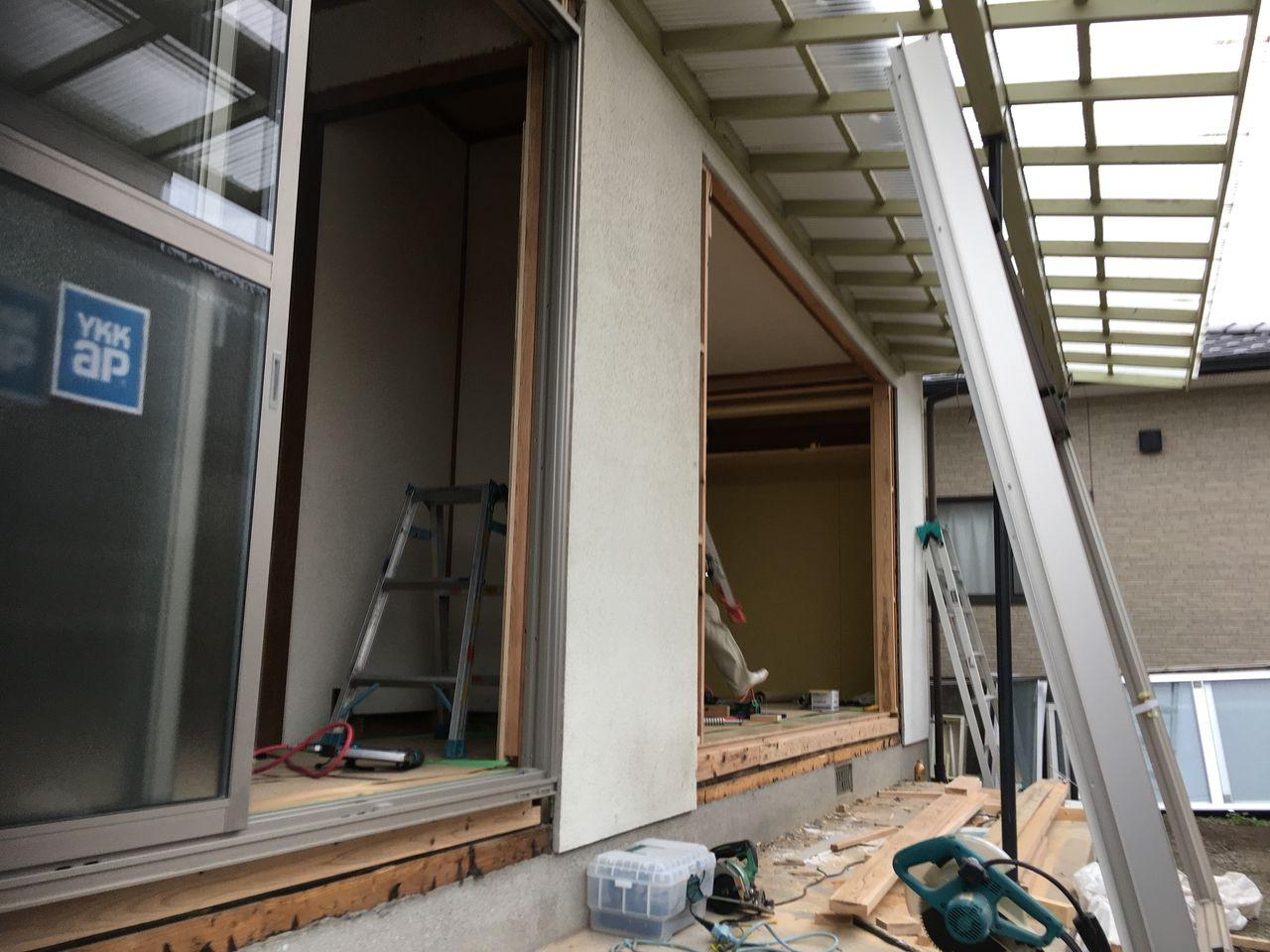 熊本市東区桜木・アルミサッシの入替工事終了