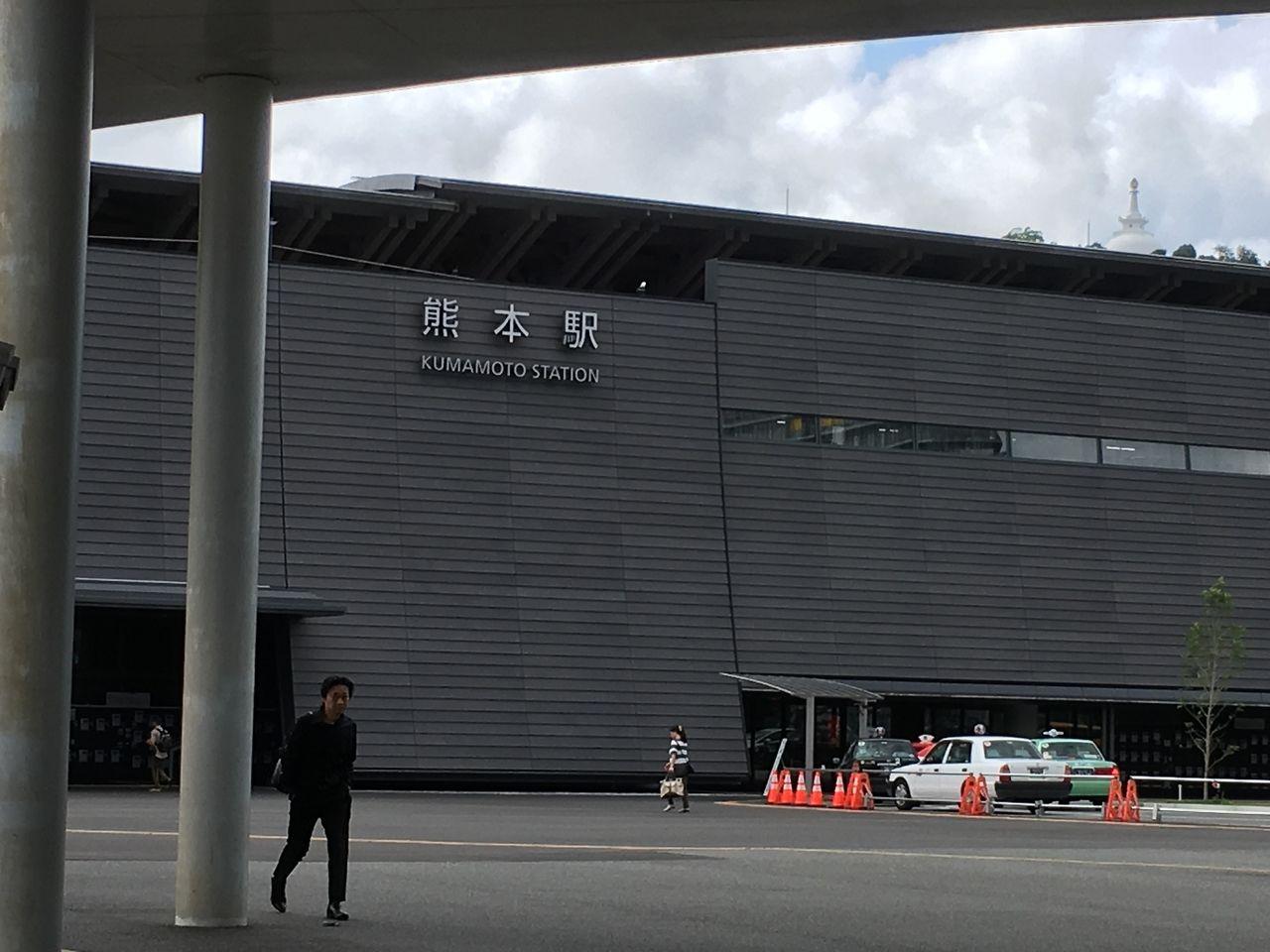安藤忠雄氏設計の熊本駅・熊本城の石垣「武者返し」をイメージ