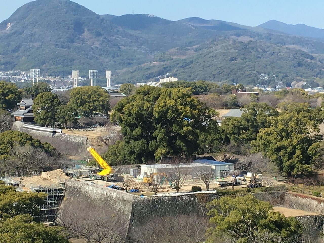 復興工事まっただ中の熊本城