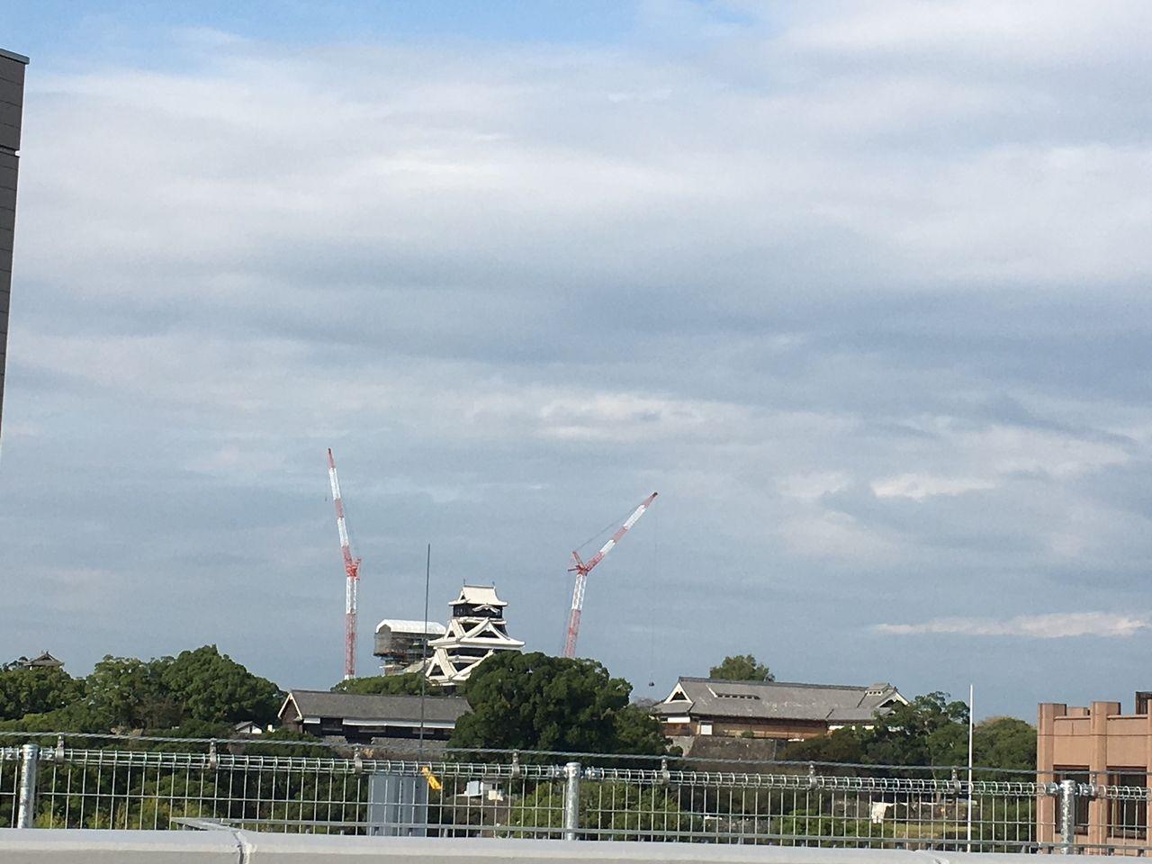 サクラマチ ガーデンから望む熊本城