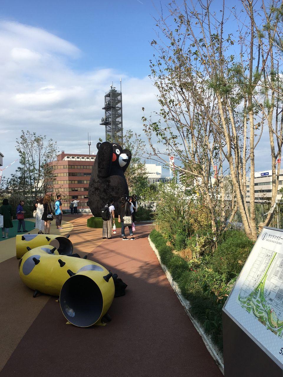 サクラマチ ガーデンに鎮座するクマモン