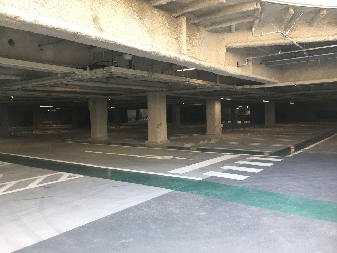 サクラマチ クマモト駐車場の内部