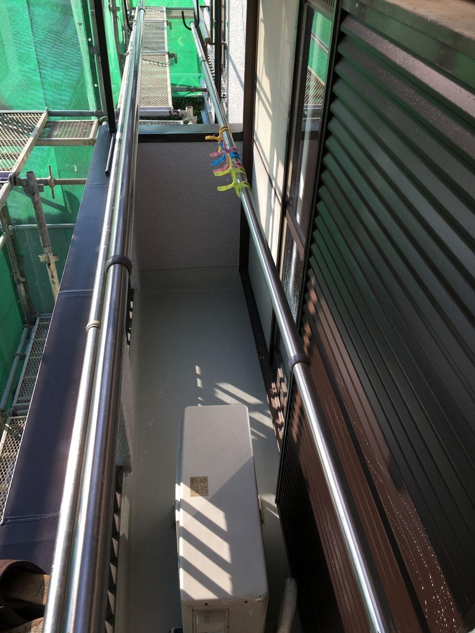 二階バルコニーの防水工事