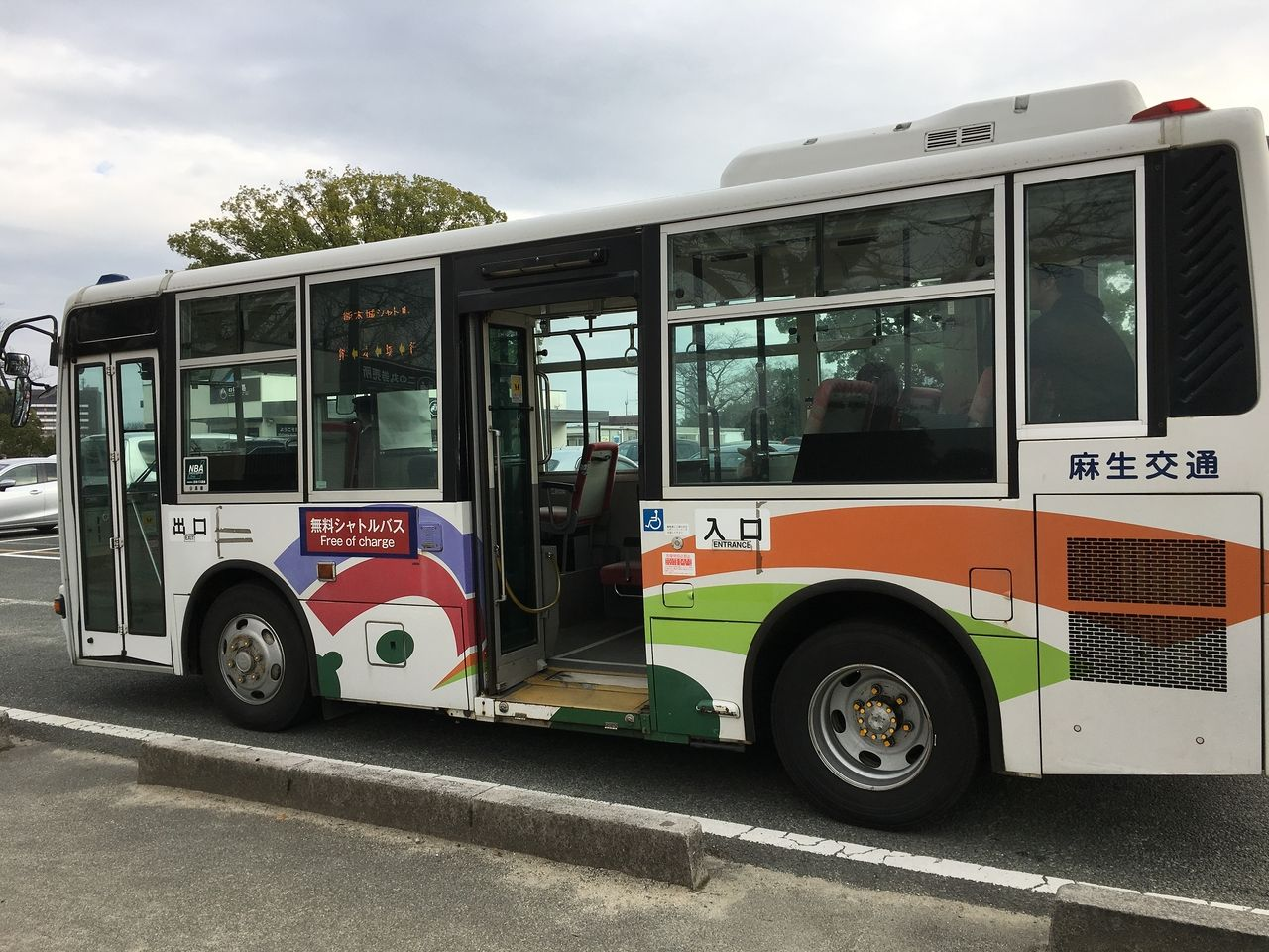熊本城二の丸駐車場にも停車する無料シャトルバス