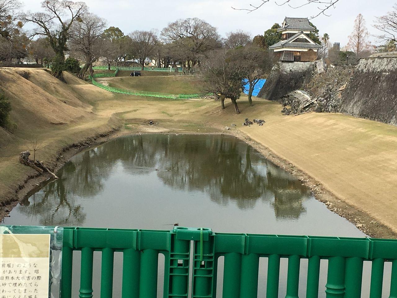 熊本城のお堀と戌亥櫓