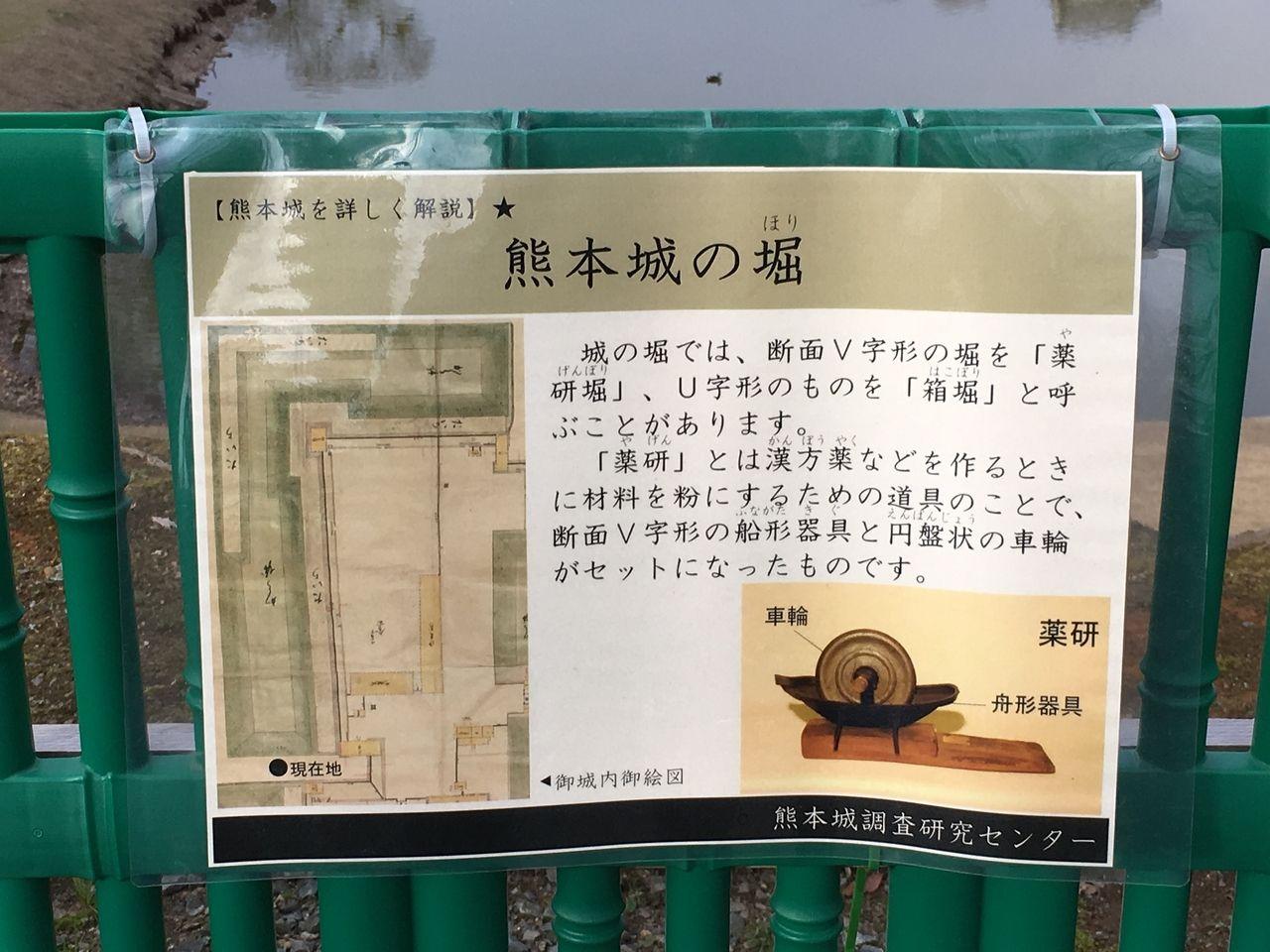 熊本城の堀についての解説
