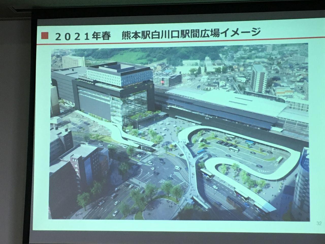 2021年春熊本駅白川口駅前広場イメージ