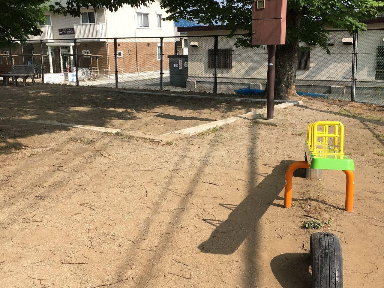 熊本市東区にある秋津東公園の砂場